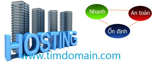 Hosting tại timdomain.com: Nhanh - An toàn - Ổn định